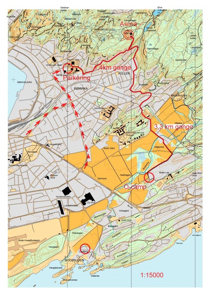Kart over bodø sentrum